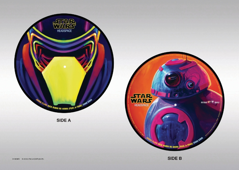"New 10"" Vinyl Single From Star Wars Headspace (PRNewsFoto/Disney Music Group)"
