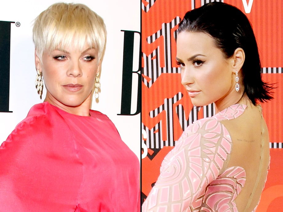 Demi Lovato and P!nk